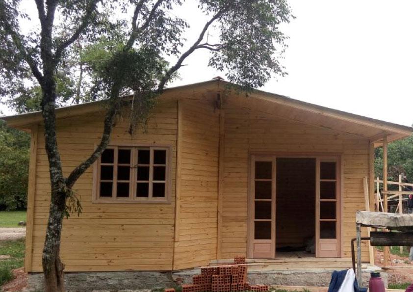 Casa De Madeira Pinus Ecomorada