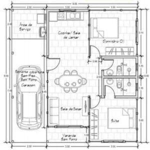 Casa de Madeira 2 quartos Itajaí 48m² – Pinus Tratado Autoclave
