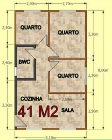 Casa De Madeira Tradicional 41M² Projeto Ecomorada