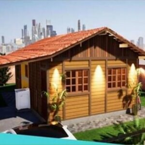 casa de madeira tradicional 51m²