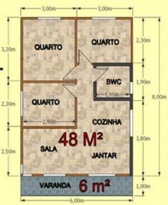 Projeto Casa De Madeira Concordia Ecomorada 54M²