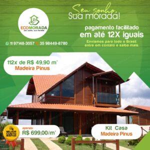 Kit Casa de Madeira Pre Fabricada EcoMorada
