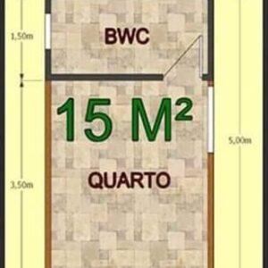 Chalé Pré Fabricado de Madeira 15 m² Pousada 1 quarto – Pinus